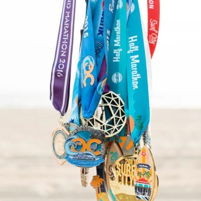 Becky's Marathon Medals